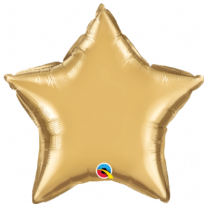 Gold Chrome Star Foil Balloon | Free Delivery available
